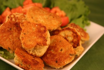 Falafel Patties created from Garbanzo Bean Flour