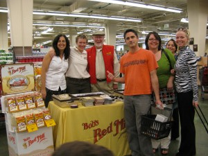 Jan Chernus, Jessica Olson, Bob and Fans at the Grand Re-opening of Hawthorne Fred Meyer