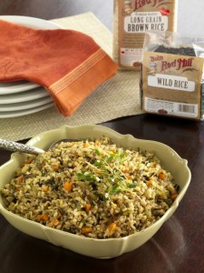This dish is a great alternative to boxed stuffing and no one has to stick their hand into bird.