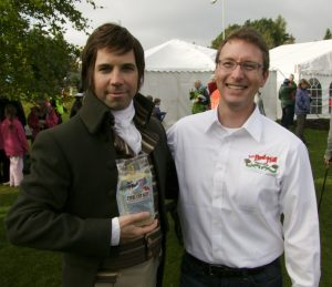 The Robert Burns impersonator was quite popular at the Golden Spurtle. Here we got him to pose with our Steel Cut Oats and World Champion, Matt Cox.