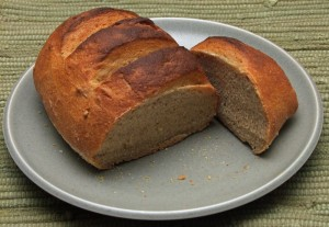 The fresh loaf had a beautiful texture and flavor. Crunchy crust, chewy insides!