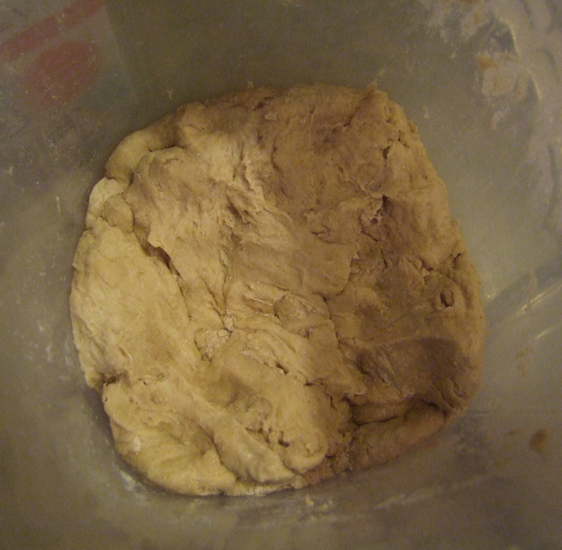 After mixing, this is what my dough looked like; it isn't pretty, but it rose beautifully.