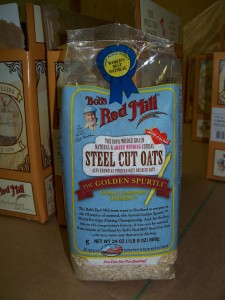 The new packaging for Steel Cut Oats- check out the ribbon!