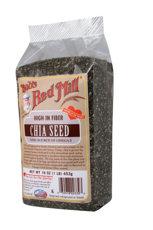Chia is a good source of protein and dietary fiber.