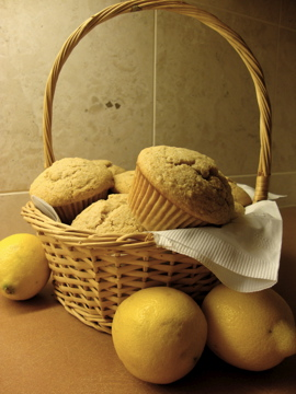 A basket full of delicious muffins ready to enjoy!