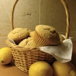 Basket of delicious muffins ready to enjoy!
