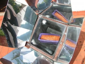 A Solar Oven in Action. (Image courtesy of Wikipedia)
