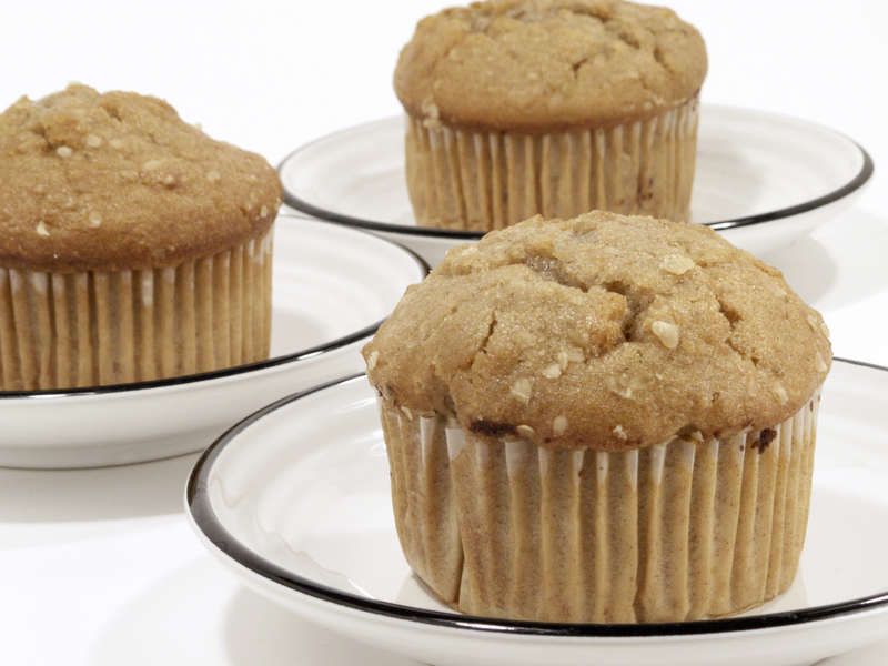 Sprinkle oats on top of your muffins to create a visual delight.