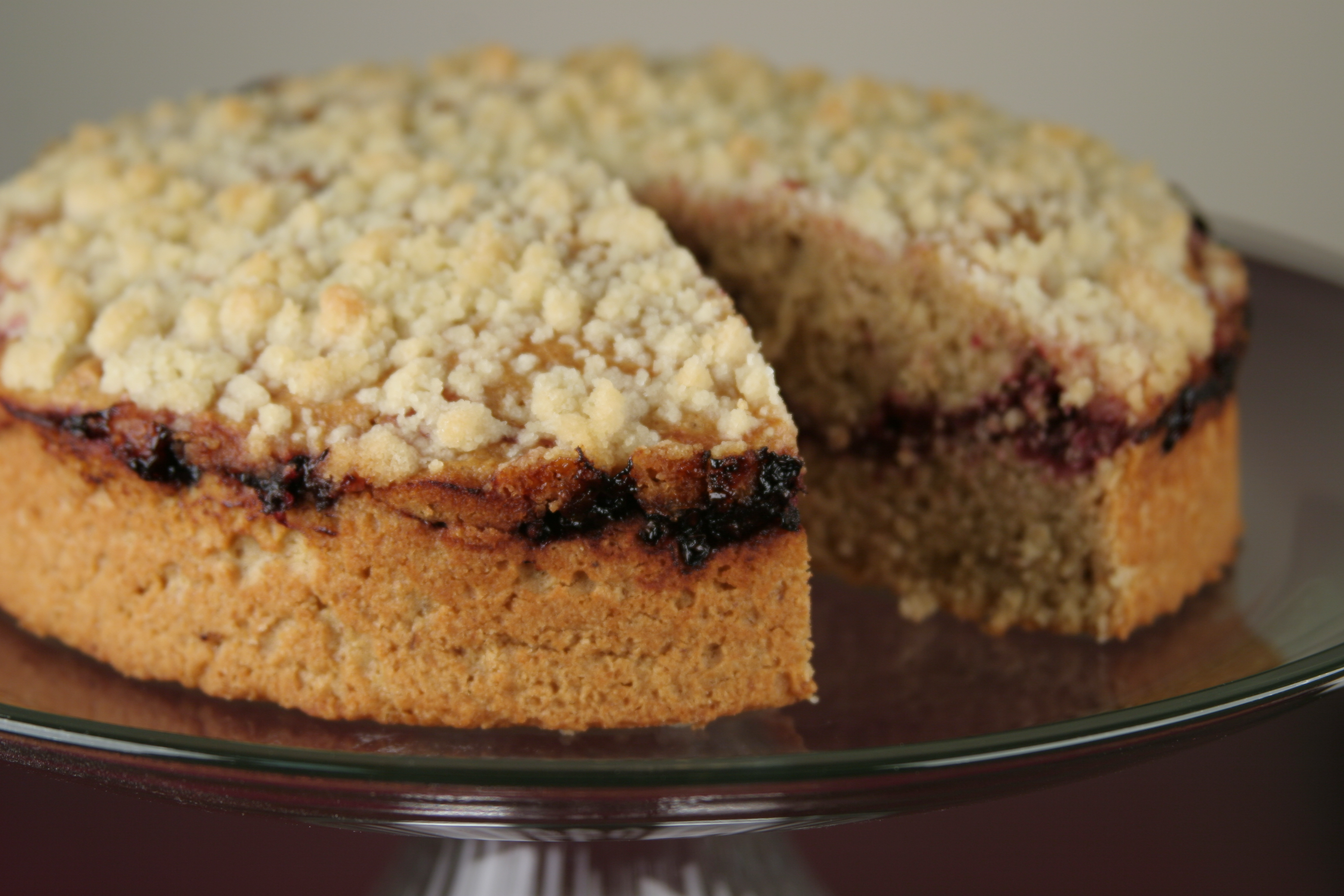 7 Grain Marionberry Coffee Cake