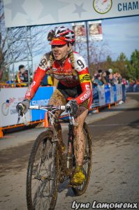 Photo by Lyne Lamoureux, After crashing on 1st lap, Maureen Bruno-Roy  clawed back to finish 21st