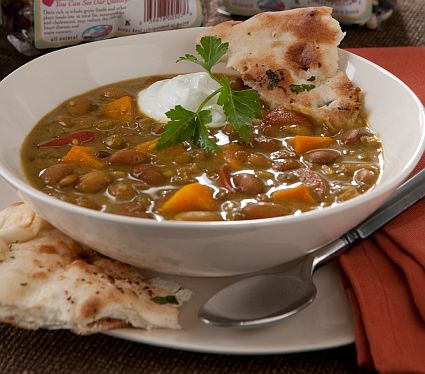 A simple soup base, our Whole Grains and Bean Soup is still on sale through Dec. 31st.