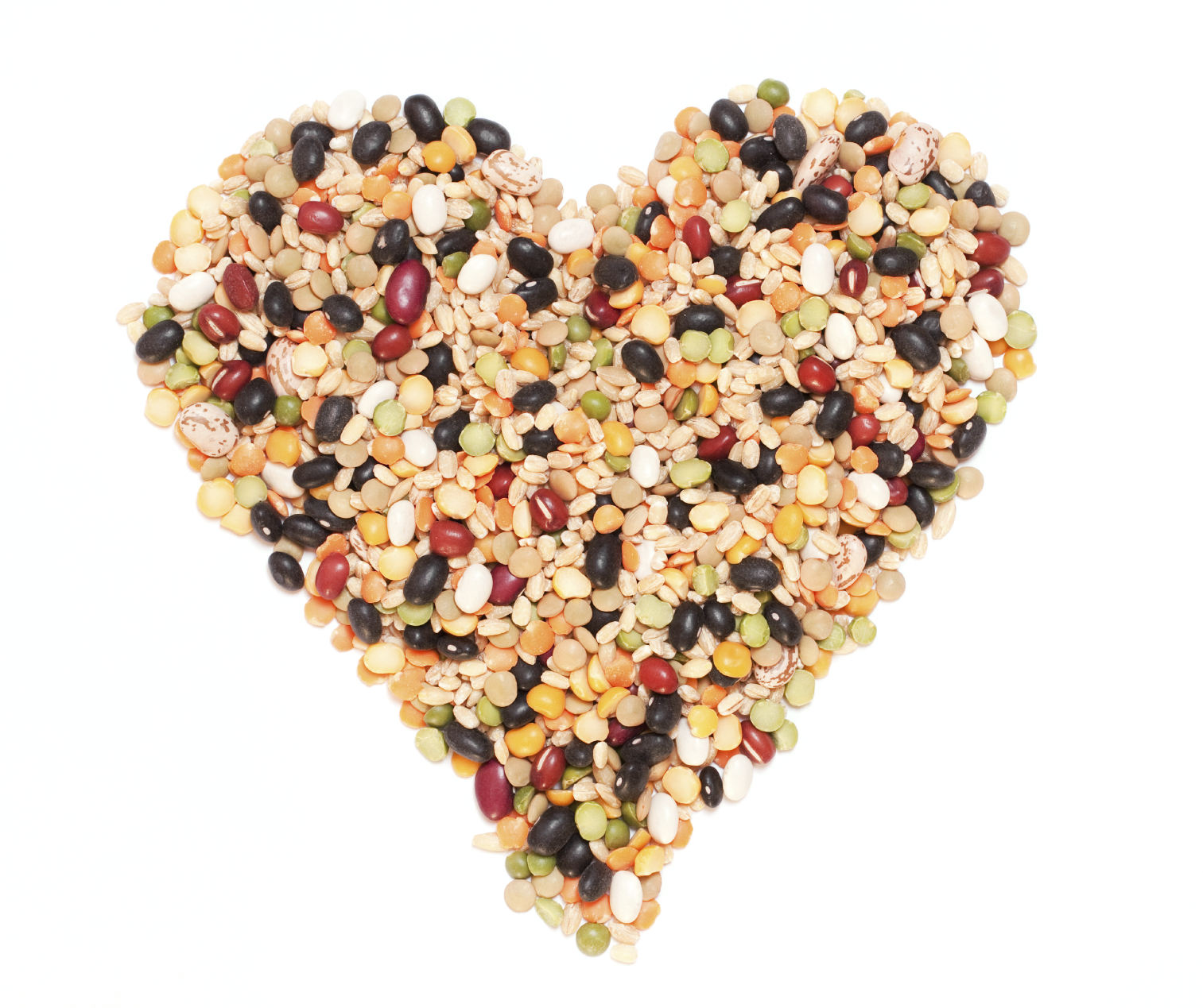 Beans and whole grains are great sources of healthy fats.