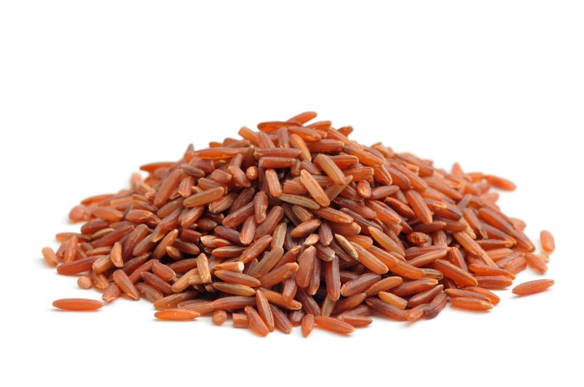 Red rice makes this dish really pop. You can purchase gulten free red rice (aka Wehani) from Lundberg Family Farms.
