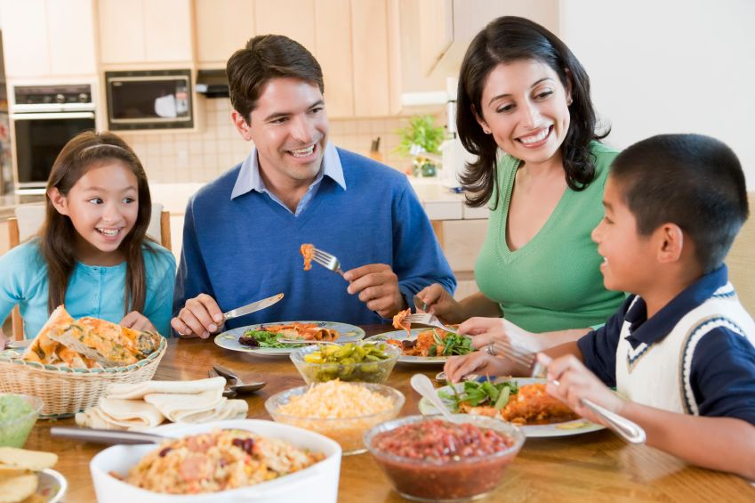 Does this look like your family at dinner time or does this idea seem completely foreign to you?