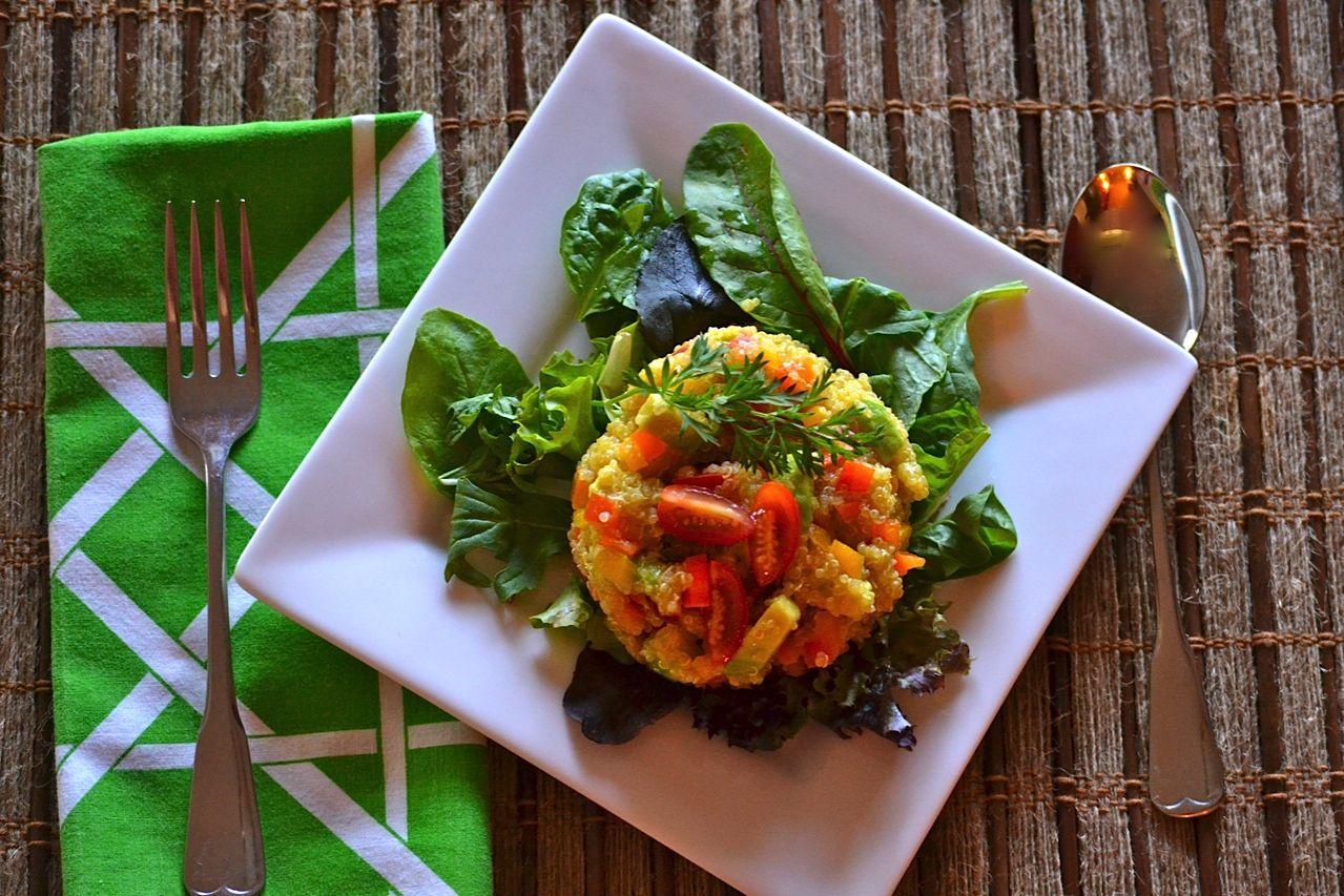 Life:Styled: Quinoa and Mixed Veggie Salad (GF, V)