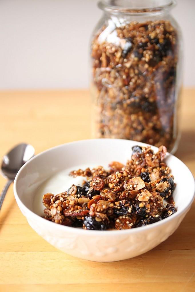 ... almond granola pecan coconut cherry granola crunchy chocolate cherry