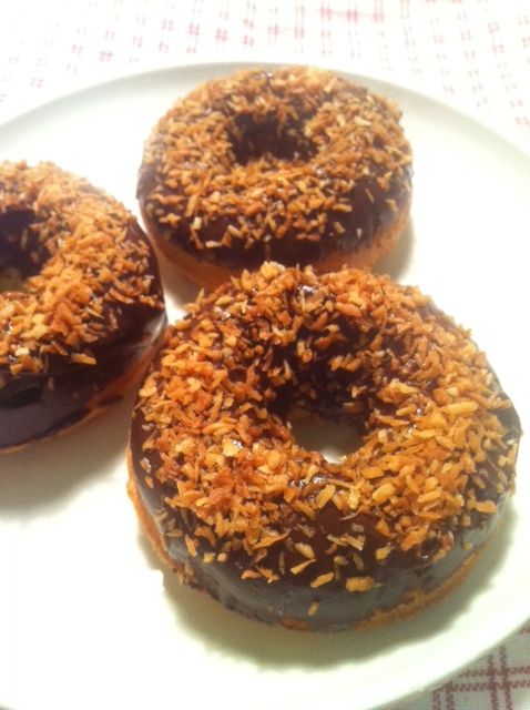 toasted coconut a yeast raised donut glazed and covered with toasted ...