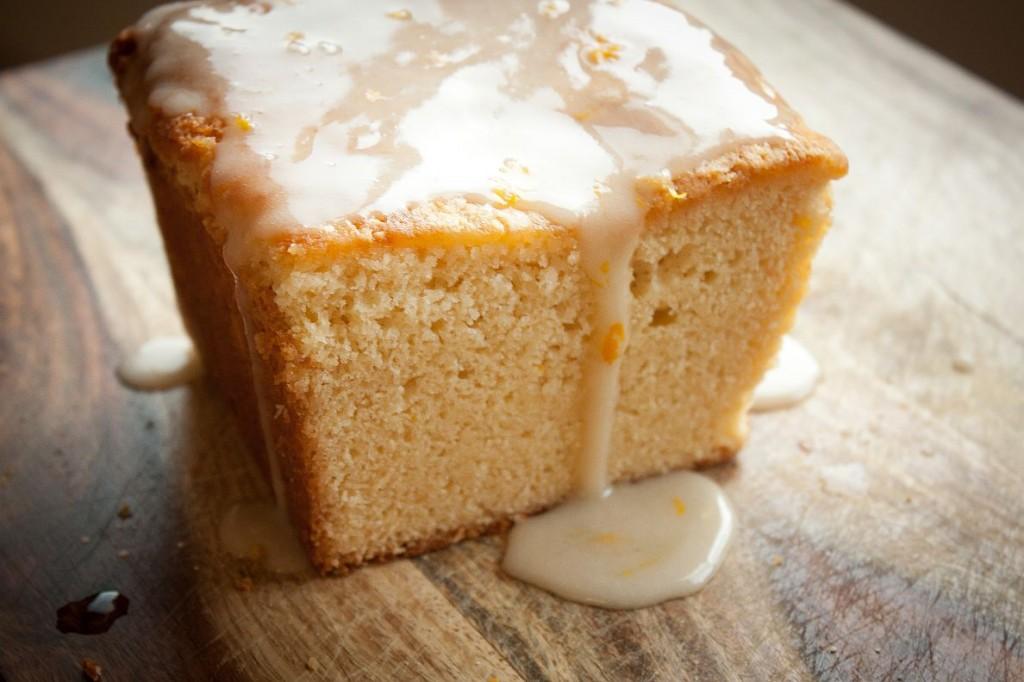 Coconut Pound Cake with Meyer Lemon Glaze