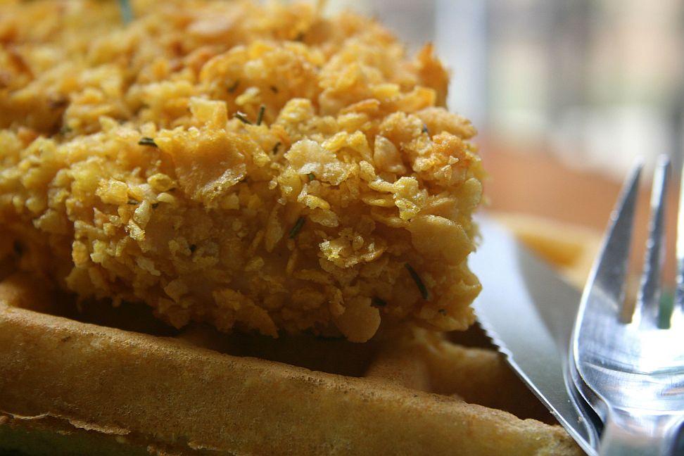 Whole Grain Brunch: Cornbread Waffles and Cornflake Chicken (GF) | Bob ...