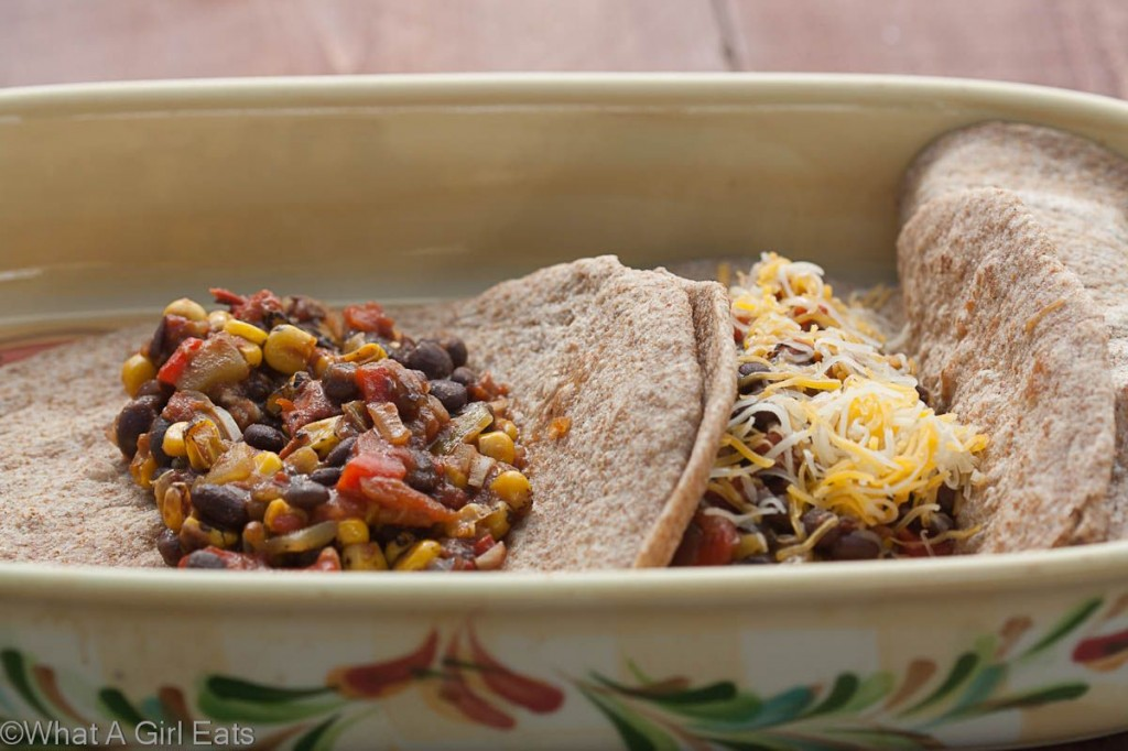 Girl Eats: Chipotle Black Bean and Fire-Roasted Vegetable Enchiladas ...
