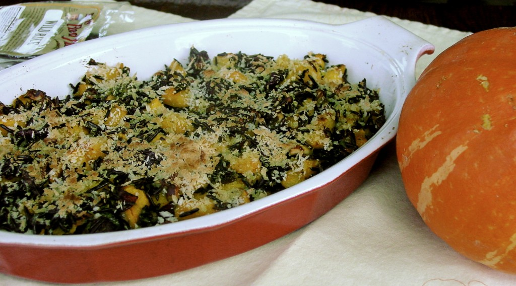Pan: Wild Rice Gratin with Red Kuri Squash, Cranberries, and Hazelnuts ...