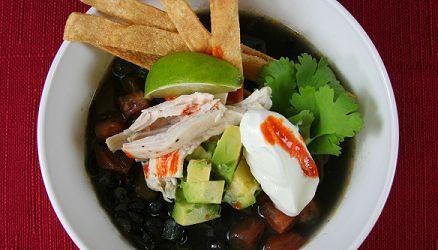 October Soup Celebration! Black Bean Tortilla Soup