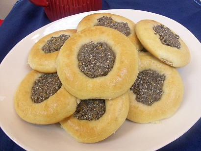 Whole Wheat Kolaches with Chia Seed Filling