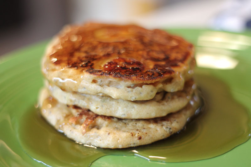 Caramelized Banana & Chia Pancakes