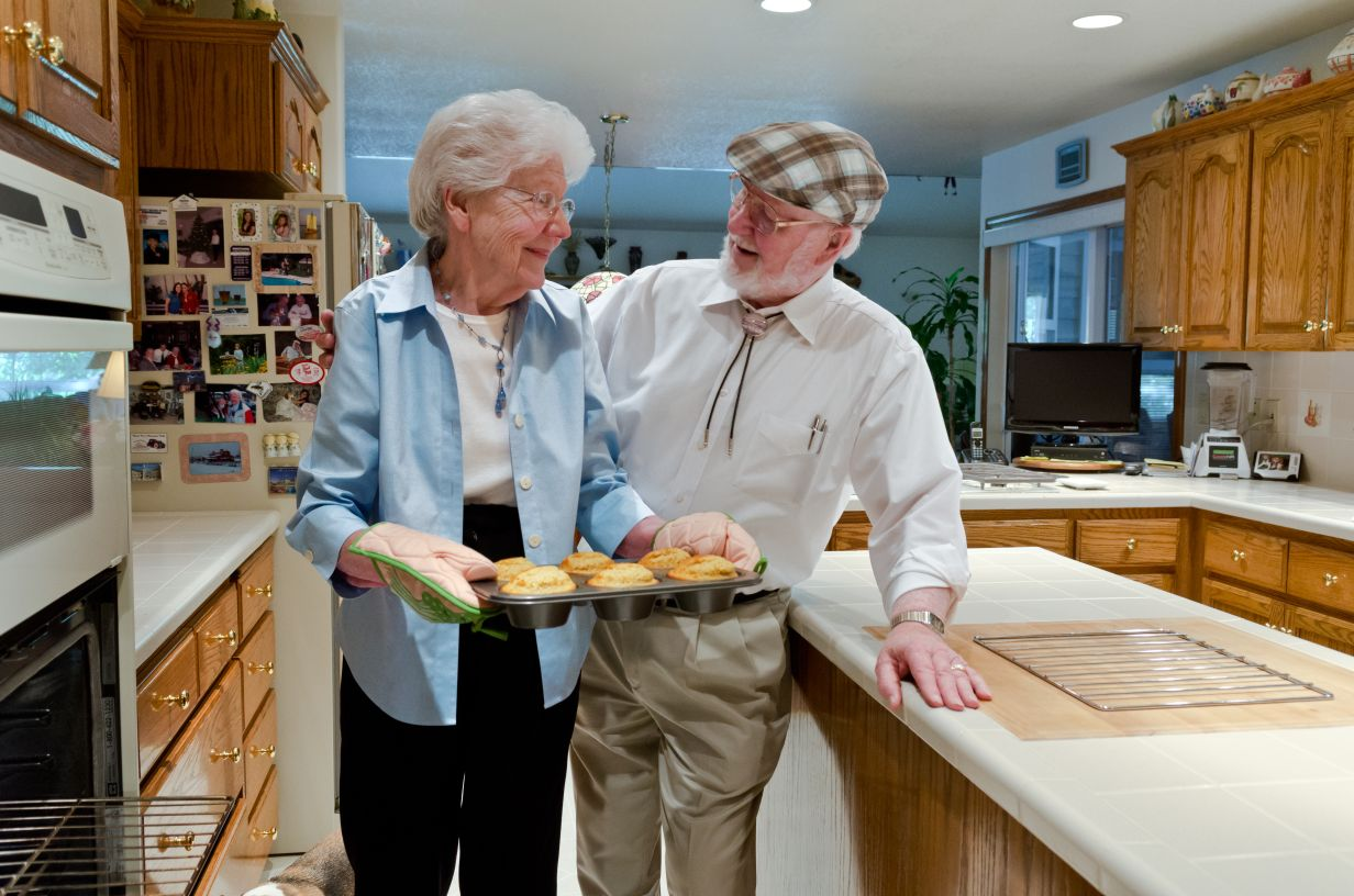 Bob and Charlee Baking Muffins