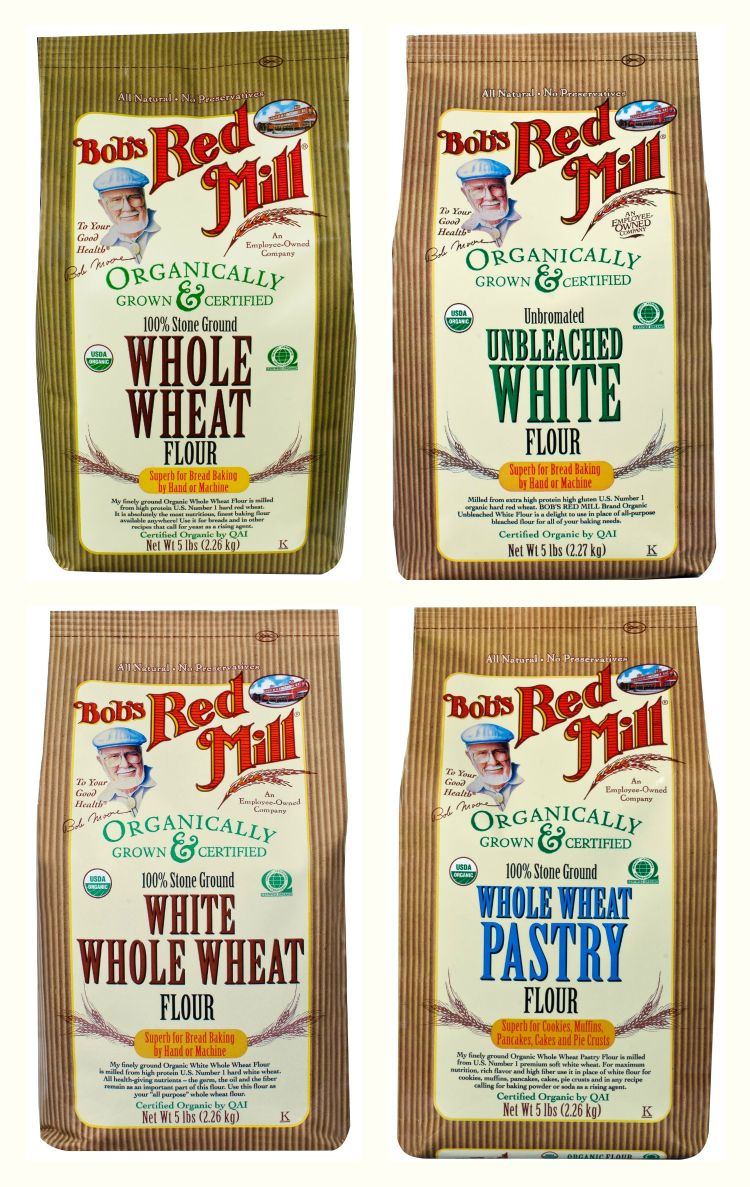 whole wheat flour unbleached white flour