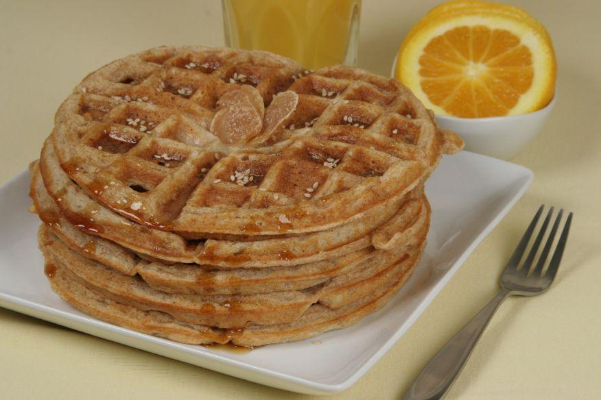 Sesame Ginger Spelt Waffles - Lorna Sass