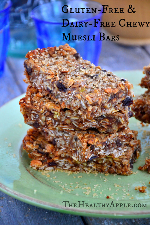 Gluten Free Muesli Bar Recipe:: Amie Valpone, The Healthy Apple