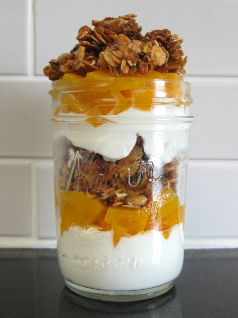 Five-Spice Muesli Granola (and Peach-Greek Yogurt Parfaits) :: Heather Sage, A Sage Amalgam {GIVEAWAY}