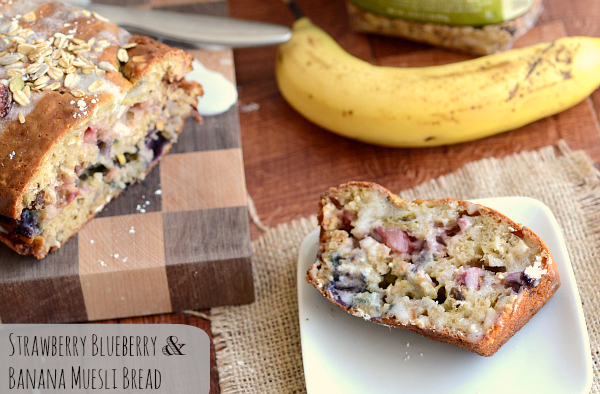 Strawberry, Banana and Blueberry Muesli Bread:: Claire Gallam: The Realistic Nutritionist