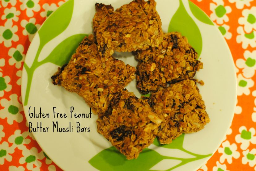 Gluten Free Peanut Butter Muesli Bars:: Janel Ovrut Funk, Eat Well with Janel
