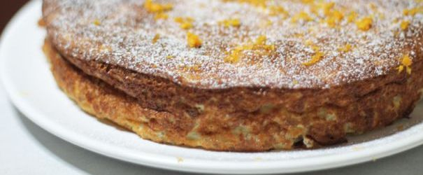 Italian Farro Ricotta Orange Cake