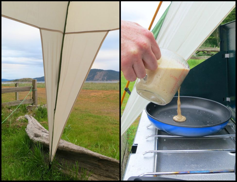 Oatmeal Cinnamon Pancake Camping