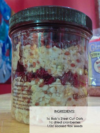 Oatmeal with Cranberries and soaked seeds | Bob's Red Mill