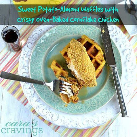 Sweet Potato-Almond Waffles with Crispy Oven-Baked Cornflake Chicken | Bob's Red Mill & Cara's Cravings
