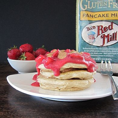 Almond Butter and Berry Coulis Pancakes | Bob's Red Mill