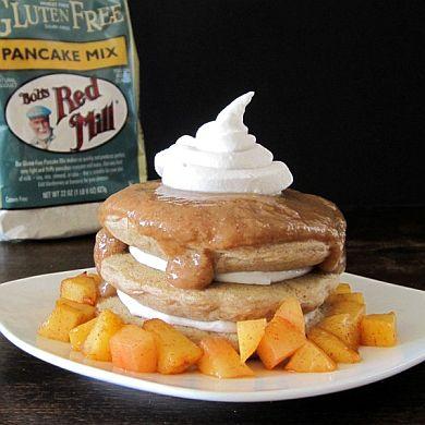 Cinnamon Peaches n Creme Pancakes | Go Dairy Free