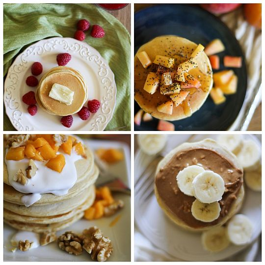 Pancake topping ideas from Bob's Red Mill