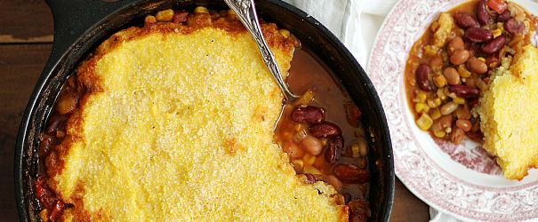 Three-Bean Chili Polenta Pot Pie | Bob's Red Mill