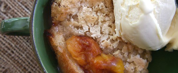 Roasted Peach Cobbler (GF, DF)