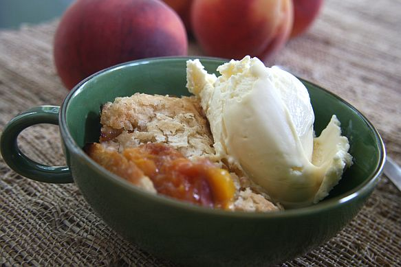 Gluten and Dairy Free Roasted Peach Cobbler | Bob's Red Mill