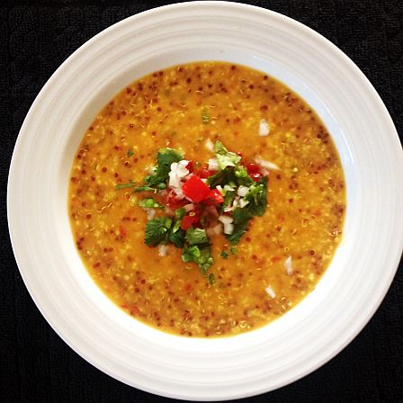 Savory Golden Oat Soup with Red Quinoa | Bob's Red Mill