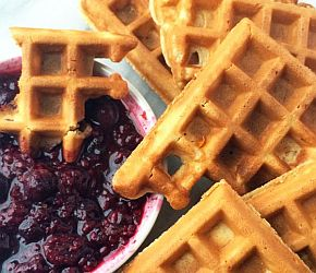 Waffle Dippers with Orange Berry Compote - The Lemon Bowl 3