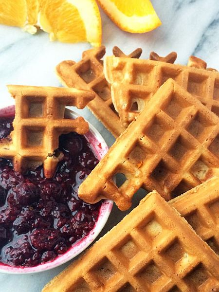 Waffle Dippers with Orange Berry Compote - The Lemon Bowl | Bob's Red Mill