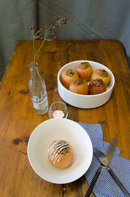 Baked Apples with Muesli and Vanilla Drizzle | Bob's Red Mill