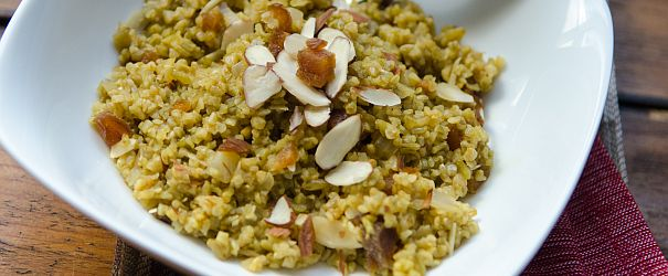 Freekeh Pilaf w Apricots & Almonds-F
